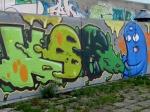 Besprühte Wand - zum Glück nicht in Giesenkirchen